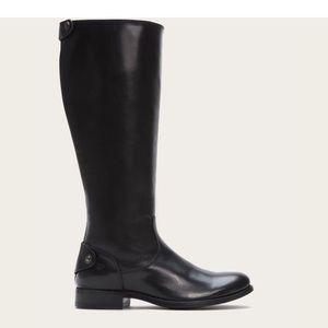 Frye Melissa Button Zip Back Boots Extended Calf